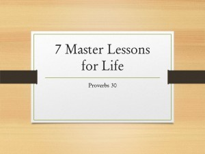 7 Master Lessons for Life